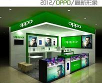 2012oppo最新形象手机店3d模型