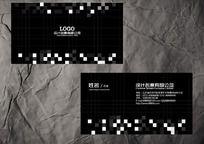 黑色装饰公司名片