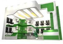 绿色椅子展台max模型设计
