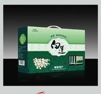 赣南特产食品 白莲包装盒设计