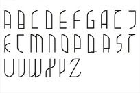 26个英文字母字体设计