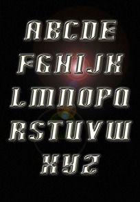 太空质感字母
