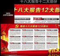 简读十八大报告12大不部分宣传栏