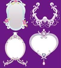 欧式珠宝边框相框镜框矢量图