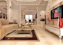 欧式客厅模型设计