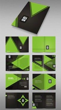 绿色装修公司宣传册版式