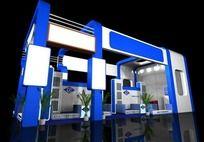 蓝色科技展厅max模型