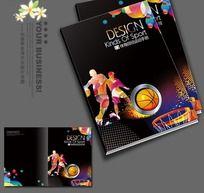 黑色篮球杂志封面设计