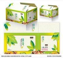 水果包装箱设计平面展开图