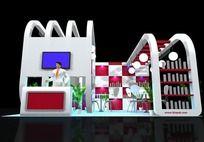 白色3D展台max模型
