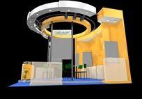 黄色3D展台max模型
