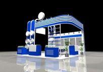 蓝色3D展台max模型