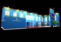 蓝色科技3D展台max模型