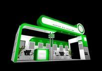绿色科技3D展台max模型