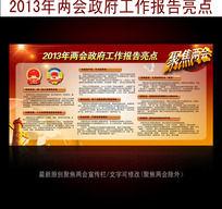 2013年两会政府工作报告亮点宣传展板