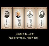 学校励志名人名言挂板之徐特立詹天佑李大钊刘少奇