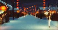 张灯结彩过新年春节高清视频素材