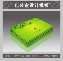 草绿色保健品包装盒平面图与效果图