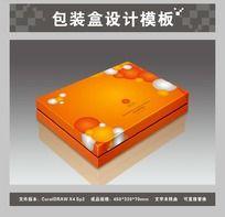 桔黄色保健品包装盒平面图与效果图