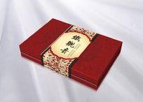 红色牡丹花纹背景精品茶叶包装