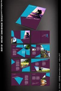 运动旅行宣传画册