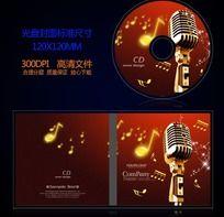 歌唱唱歌比赛音乐光盘封面设计