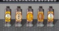 中药洗发水按摩油标签