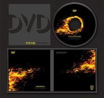 动感火焰创意文化行业光盘系列模板