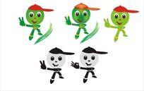绿色OK可爱卡通人物