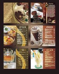 欧式时尚酒楼菜单模板
