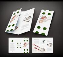 园林工具产品三折页
