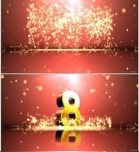 10秒倒计时粒子瀑布视频