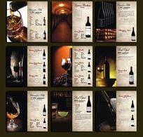 高档红酒酒单设计
