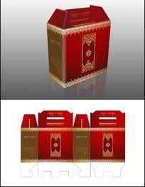 春节礼品包装盒及展开图设计
