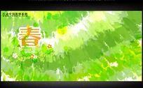 绿色春天背景设计