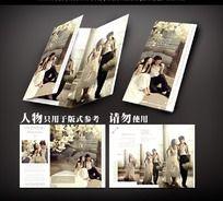 婚纱摄影三折页设计