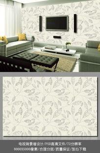 欧式风格客厅电视背景墙墙纸