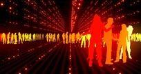 led音乐舞会舞台人群舞动视频