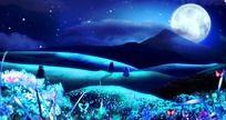 月夜蝴蝶飞舞歌舞晚会视频背景