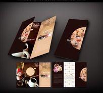 甜品蛋糕宣传三折页设计