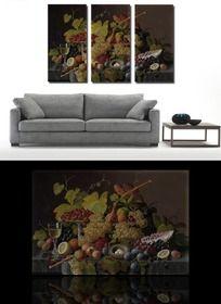 古典水果油画客厅无框画挂画