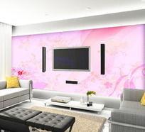 粉色世界电视背景墙