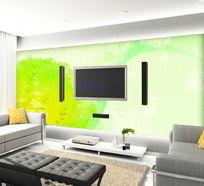 绿色世界电视背景墙