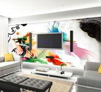 水墨中国电视背景墙
