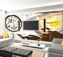 现代风创意客厅电视背景墙