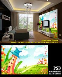 高清儿童房间卡通电视背景图
