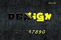 0-9游戏数字字体设计