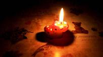 燃烧的蜡烛视频背景素材