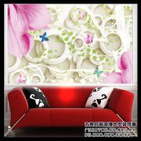 时尚3D立体客厅沙发背景墙