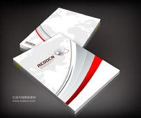 红色科技宣传册封面图片
